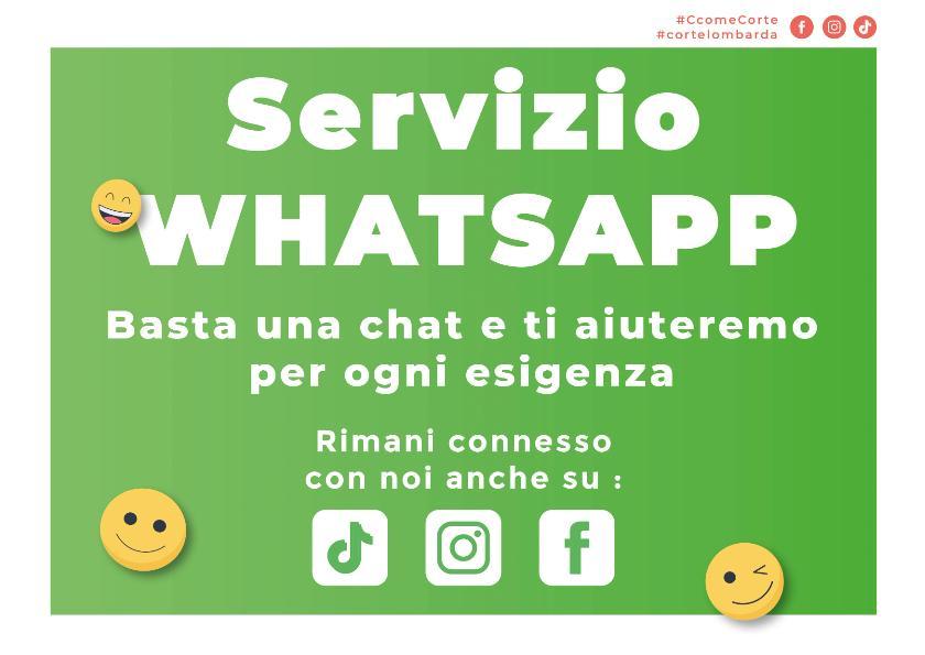 Nuovo Servizio Whatsapp