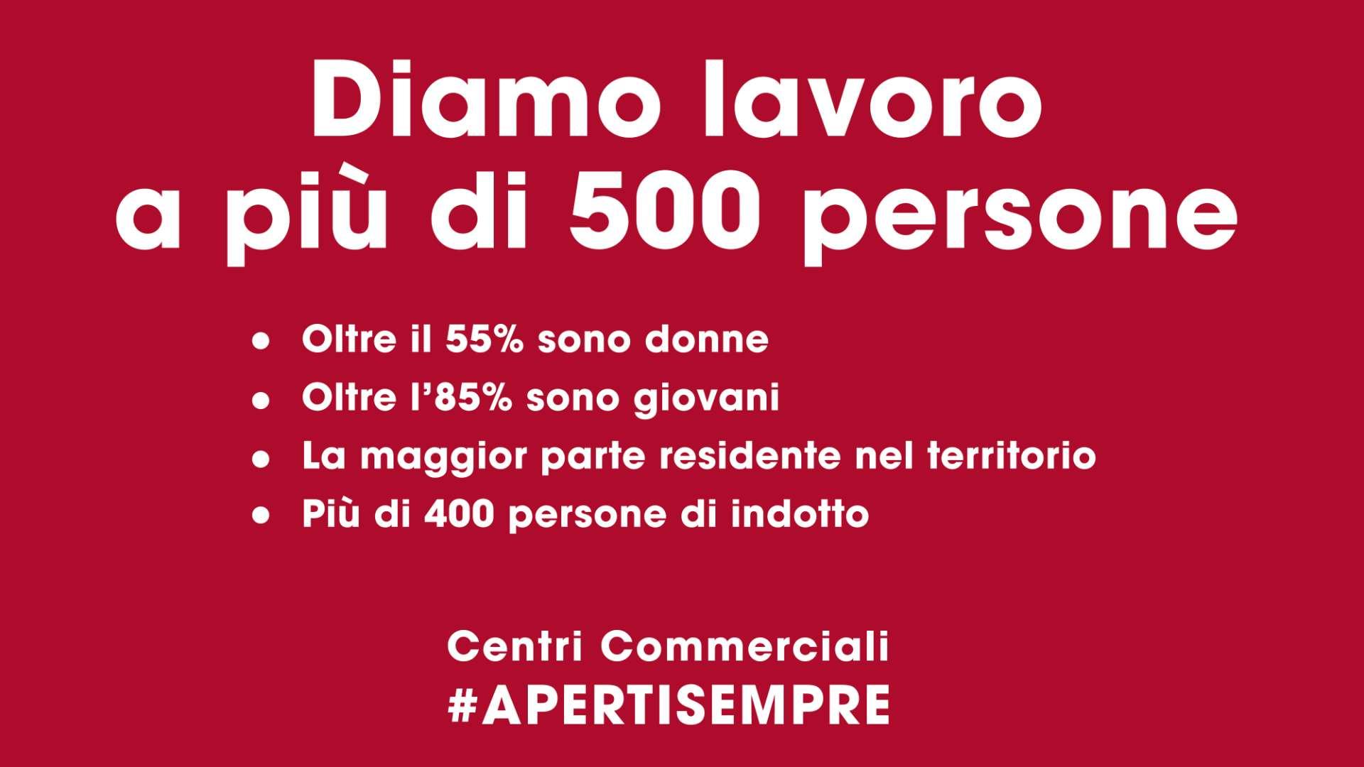Centri Commerciali #APERTISEMPRE #LAVORO
