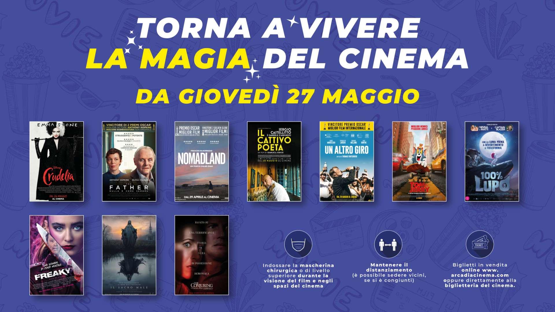 Riapertura Cinema Arcadia