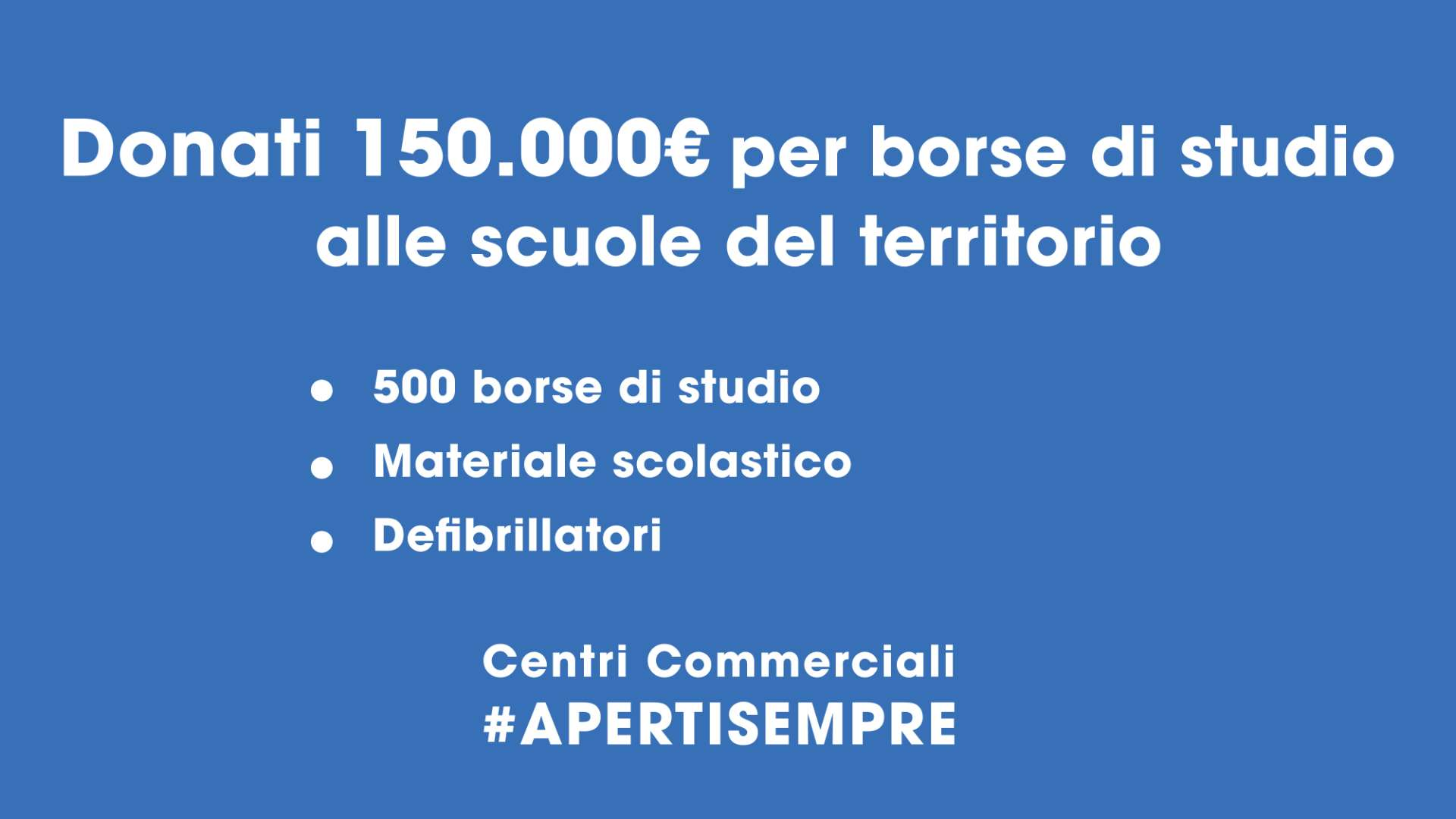 Centri Commerciali #APERTISEMPRE #ISTRUZIONE