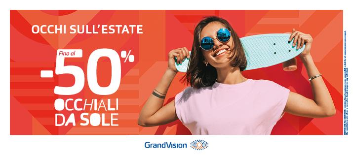 -50% sugli occhiali da sole!