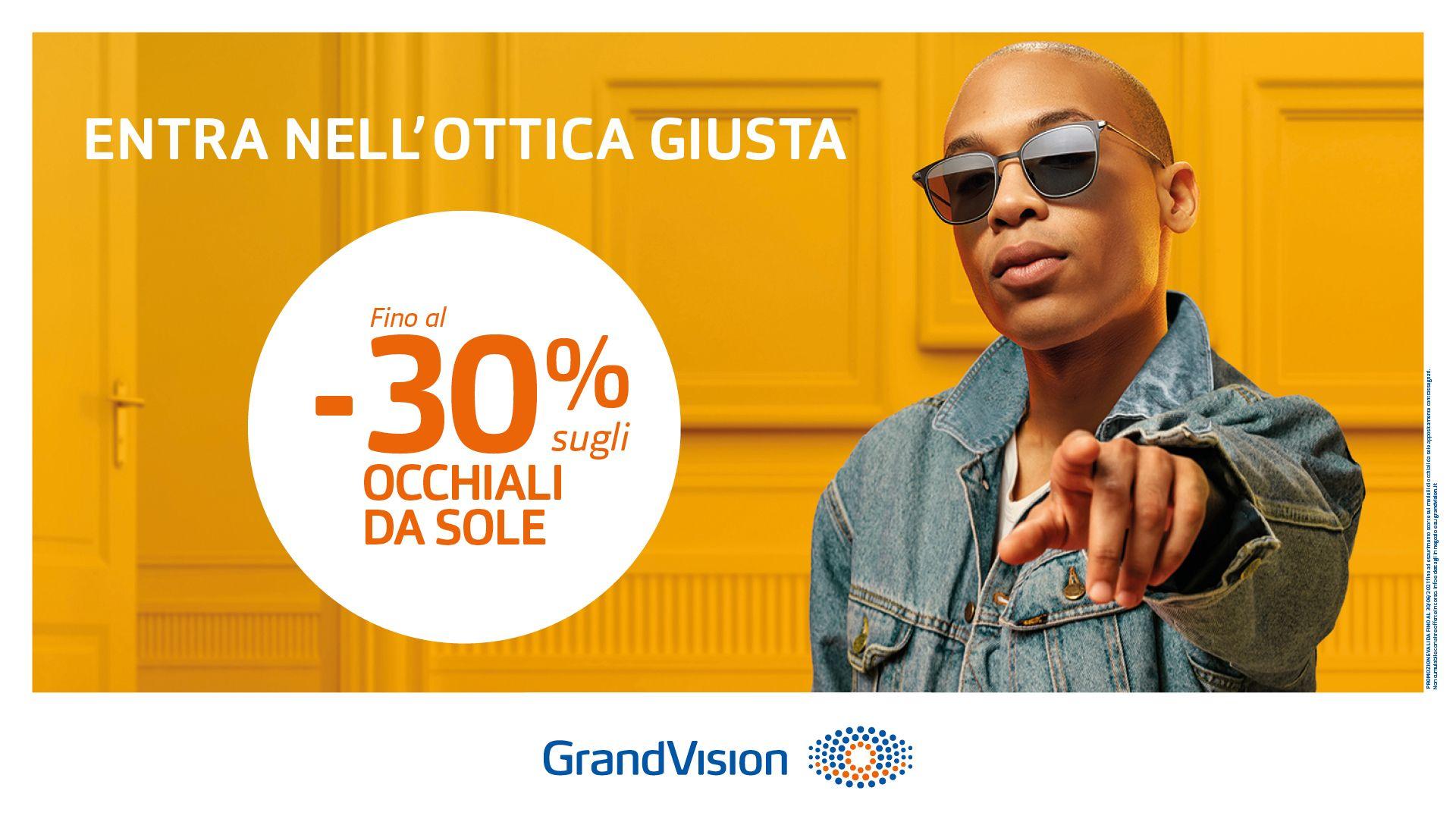 Fino al -30% di sconto sugli occhiali da sole